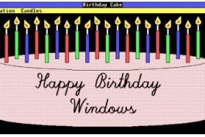 С Днем Рождения, Windows!